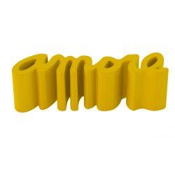 Banc Amore, Slide Design jaune Mat
