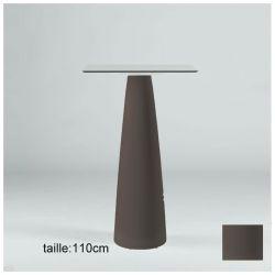 Mange-debout carré Hoplà, Slide chocolat 79x79xH110 cm
