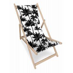 Transat Palmier noir et blanc, collection On dirait le sud, Pôdevache