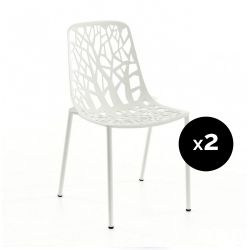 Lot de 2 chaises design Forest, Fast blanc