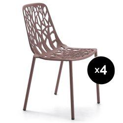 Lot de 4 chaises design Forest, Maracuja