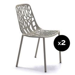 Lot de 2 chaises design Forest, Fast Iron grey