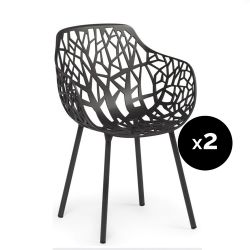 Lot de 2 fauteuils design Forest, Fast noir