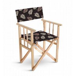 Chaise metteur en scène Mosaïque Feuilles, collection Sous influence, Pôdevache