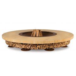 Braséro Ercole diamètre 250cm, Ak47 Design, finition bois de teck