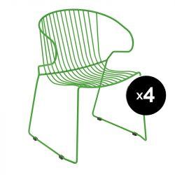 Lot de 4 fauteuils Bolonia, Isimar, vert emeraude