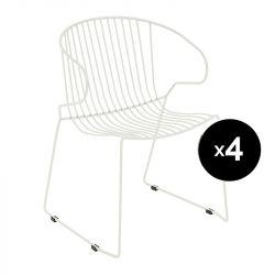 Lot de 4 fauteuils Bolonia, Isimar, beige sable