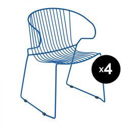 Lot de 4 fauteuils Bolonia, Isimar, bleu marine