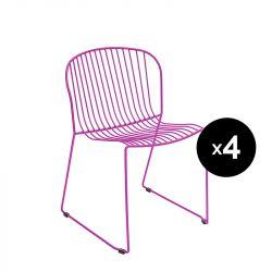 Lot de 4 chaises Bolonia, Isimar, violet