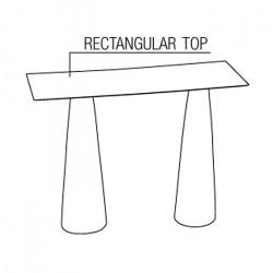 Mange-debout rectangulaire Hoplà, Slide blanc 180x79xH110 cm