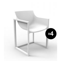 Lot de 4 chaises Wall Street, Vondom blanc