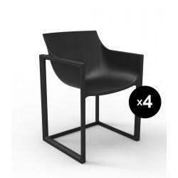 Lot de 4 chaises Wall Street, Vondom noir