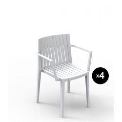 Lot de 4 chaises Spritz, Vondom blanc Avec accoudoirs