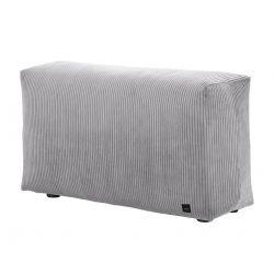 Module vertical pour le canapé Vetsak, velour cotelé gris clair