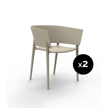 Set de 2 fauteuils Africa, Vondom écru
