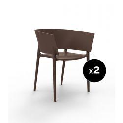 Set de 2 fauteuils Africa, Vondom bronze