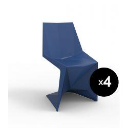 Lot de 4 chaises Voxel futuristes, Vondom navy