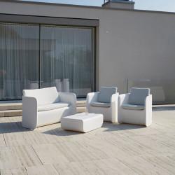 Salon de jardin Nova, Myyour couleur blanc avec coussins
