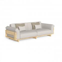 Canapé de jardin Argo, Talenti bois foncé & beige