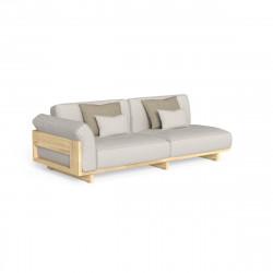 Canapé modulaire angle droit Argo, Talenti bois clair & beige