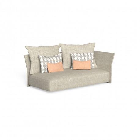 Canapé modulaire angle gauche, dossier en tissu Cliff, Talenti beige