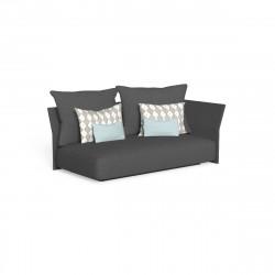 Canapé modulaire angle gauche, dossier en tissu Cliff, Talenti gris