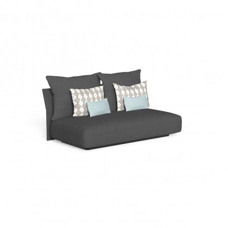 Canapé modulaire central, dossier en tissu Cliff, Talenti gris