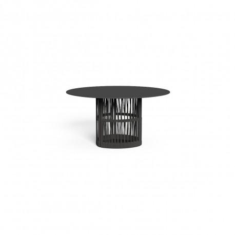 Table à manger ronde Cliff six places, Talenti gris diamètre 140 cm