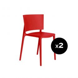 Set de 2 chaises Africa, Vondom rouge