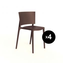 Set de 4 chaises Africa, Vondom bronze