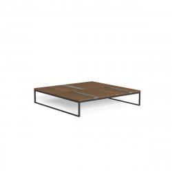 Table basse carrée Casilda, Talenti graphite 100 x 100 cm