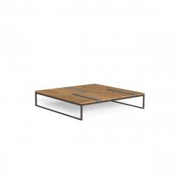 Table basse carrée Casilda, Talenti moka 140 x 140 cm