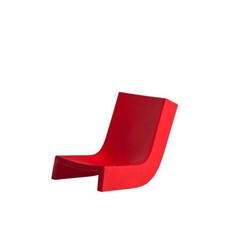Chaise longue Twist, Slide Design rouge
