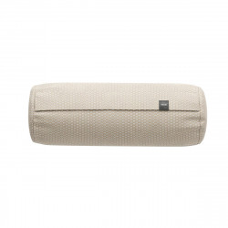 Coussin Noodle pillow 42 x 16 cm outdoor, pour canapé Vetsak, tissu d'extérieur tricoté beige