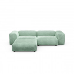 Canapé d\'angle Vetsak, velours vert menthe L.231 x H.60 x P.115,5 cm