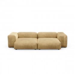 Canapé deux places avec accoudoirs taille L Vetsak, velours caramel