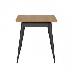Table 55 Plateau Chêne, Graphite, Tolix, 70 X 70 X H74 cm