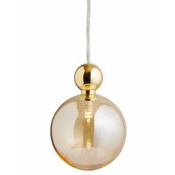 Suspension Uva, Ebb&Flow, doré fumé, diamètre 10 cm, câble transparent, boule en laiton doré
