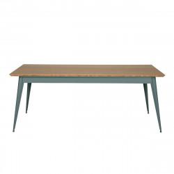 Table 55 Plateau Chêne, Vert lichen, Tolix, 190 X 80 X H74 cm