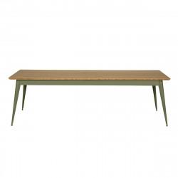Table 55 Plateau Chêne, Vert olive, Tolix, 250 X 95 X H74 cm