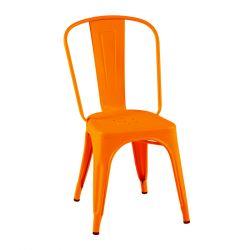 Lot de 2 chaises A Brillant, Tolix potiron