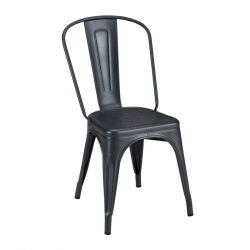 Lot de 2 chaises A Brillant, Tolix graphite