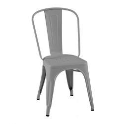 Lot de 2 chaises A Inox Brillant, Tolix gris soie