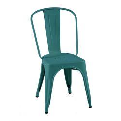Lot de 2 chaises A Inox Brillant, Tolix vert canard
