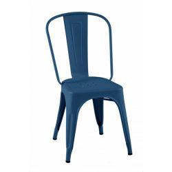 Lot de 2 chaises A Inox Brillant, Tolix bleu océan