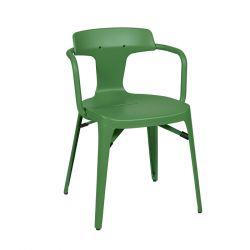 Chaise T14 Inox Brillant, Tolix vert romarin