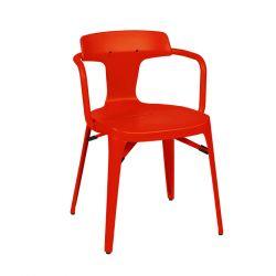 Chaise T14 Inox Brillant, Tolix poivron