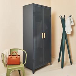 Rangement vestiaire B2 haut perforé, gris graphite, Tolix, 80 x 50 x H192,5 cm
