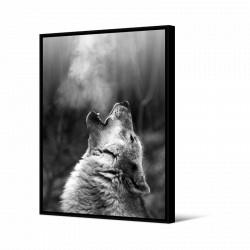 Toile encadrée Loup portrait, 80 x 120 cm, collection Wild Thing, Pôdevache