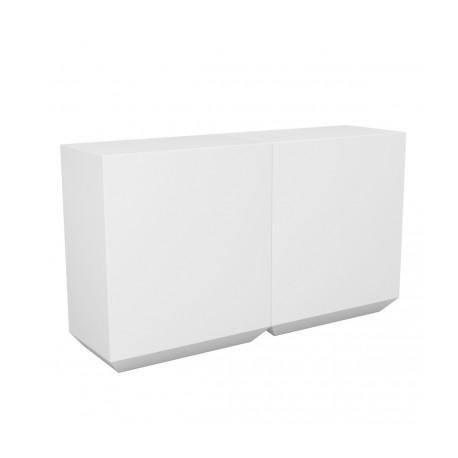 Banque d'accueil Line, élément droit 2m, Proselec blanc Laqué